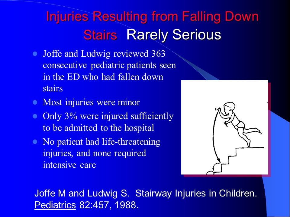 Injuries Resulting from Falling Down Stairs Rarely Serious