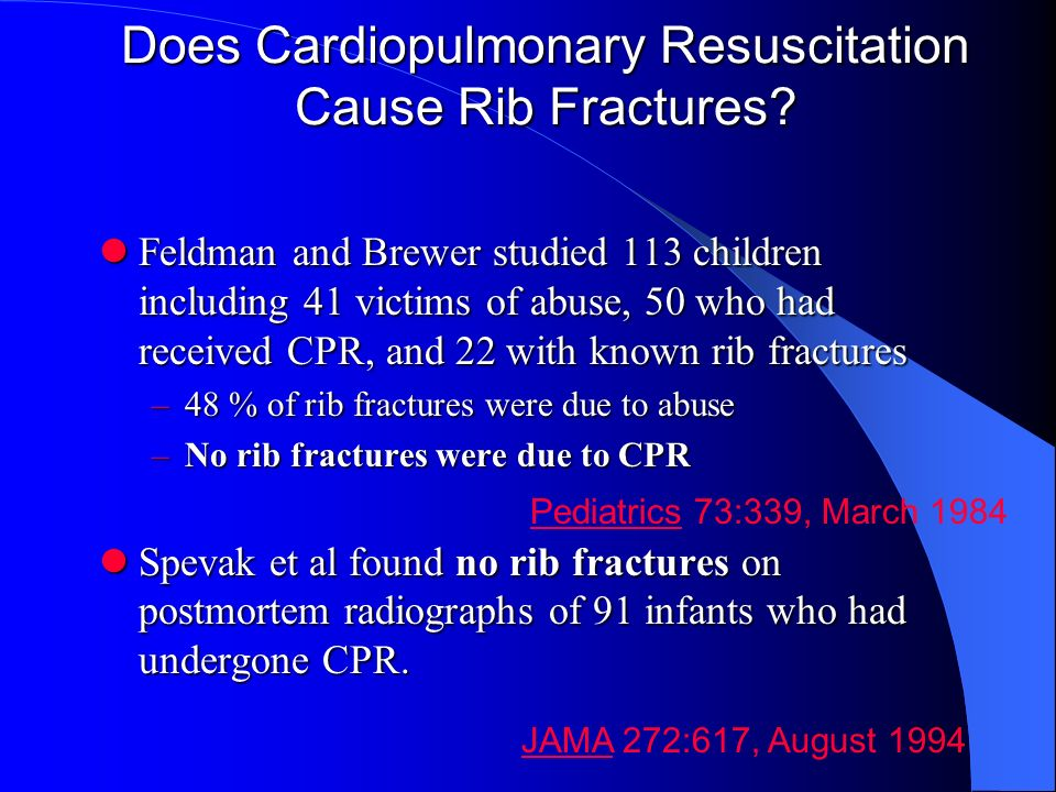 Does Cardiopulmonary Resuscitation Cause Rib Fractures