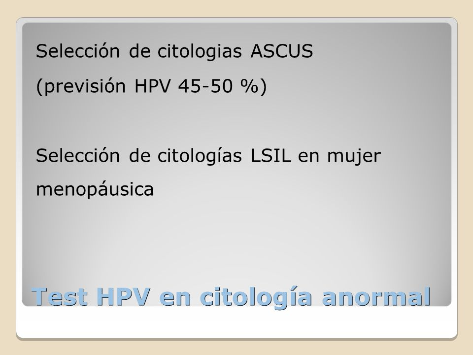 Test HPV en citología anormal