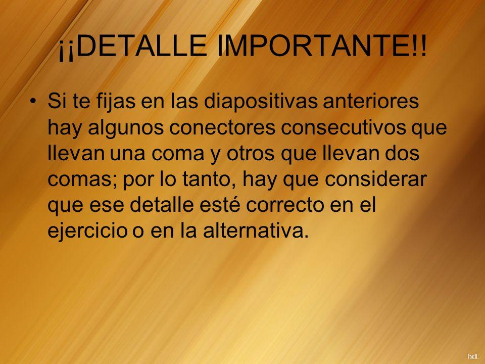 ¡¡DETALLE IMPORTANTE!!