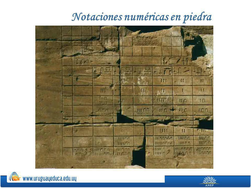 Notaciones numéricas en piedra