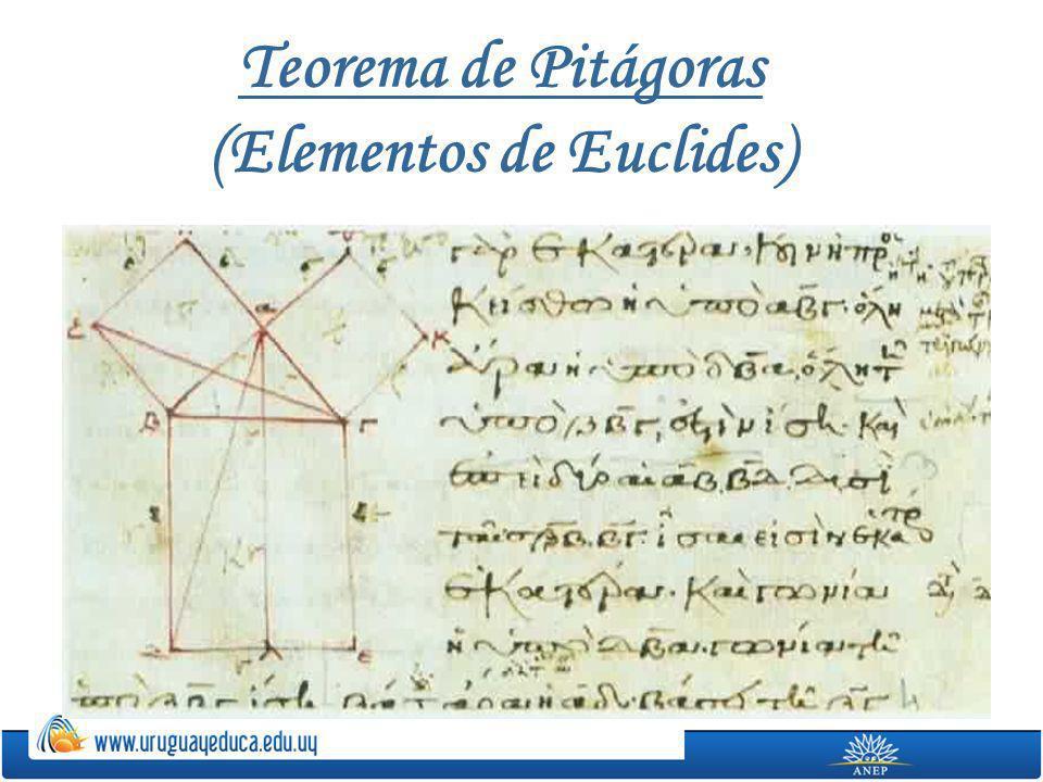 Teorema de Pitágoras (Elementos de Euclides)
