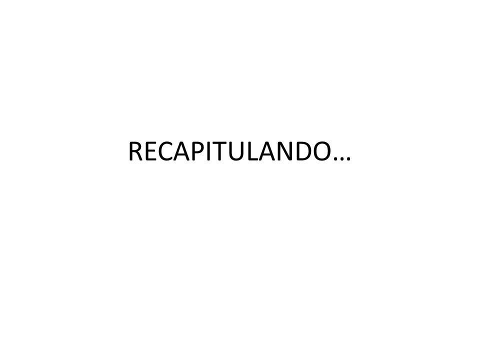 RECAPITULANDO…