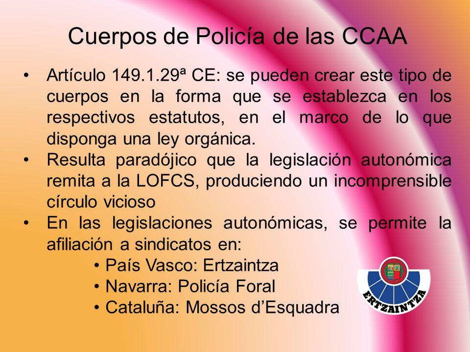 Cuerpos de Policía de las CCAA