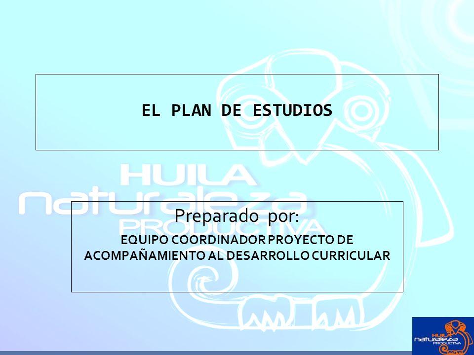 EQUIPO COORDINADOR PROYECTO DE ACOMPAÑAMIENTO AL DESARROLLO CURRICULAR