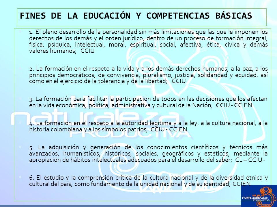 FINES DE LA EDUCACIÓN Y COMPETENCIAS BÁSICAS