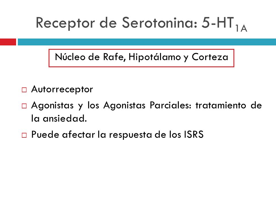 Receptor de Serotonina: 5-HT1A