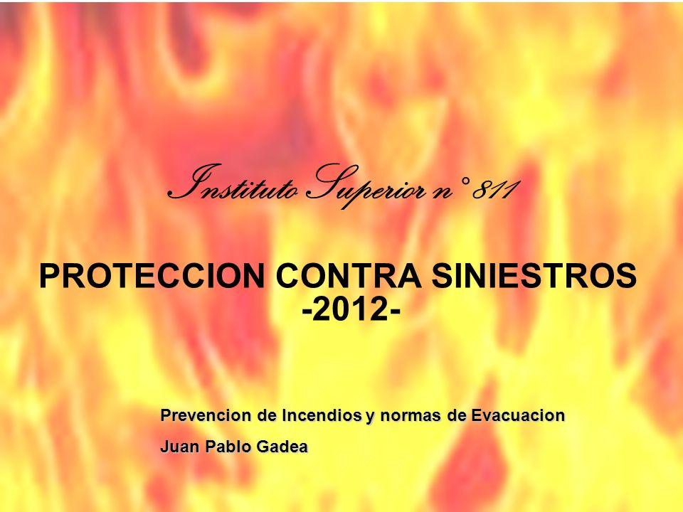 PROTECCION CONTRA SINIESTROS -2012-