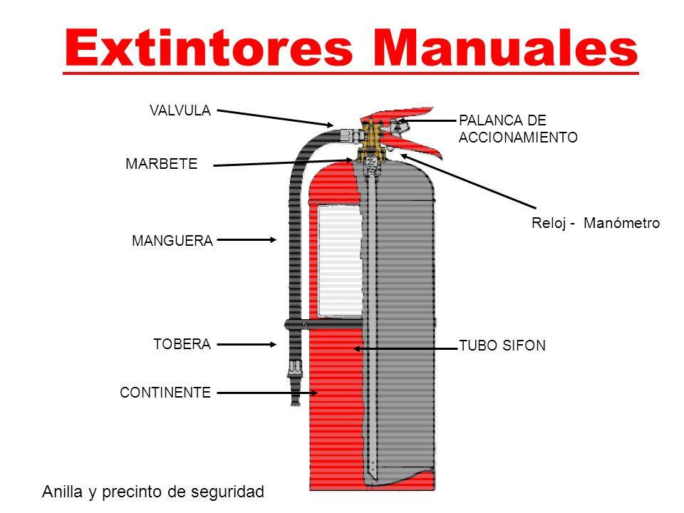 Extintores Manuales MARBETE Anilla y precinto de seguridad