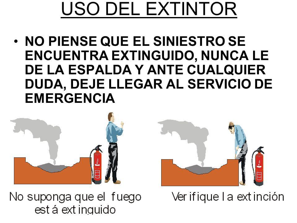 USO DEL EXTINTOR