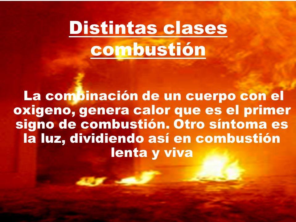 Distintas clases combustión