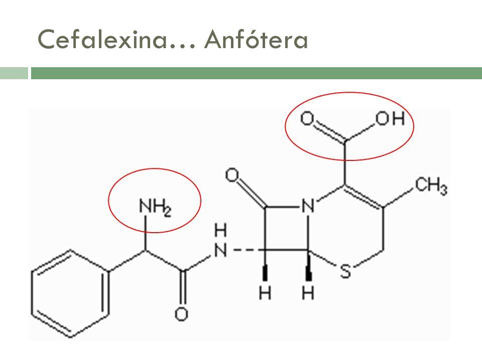 Cefalexina… Anfótera