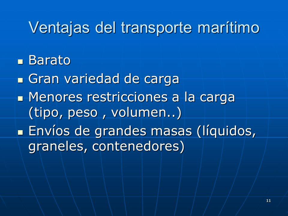 Ventajas del transporte marítimo