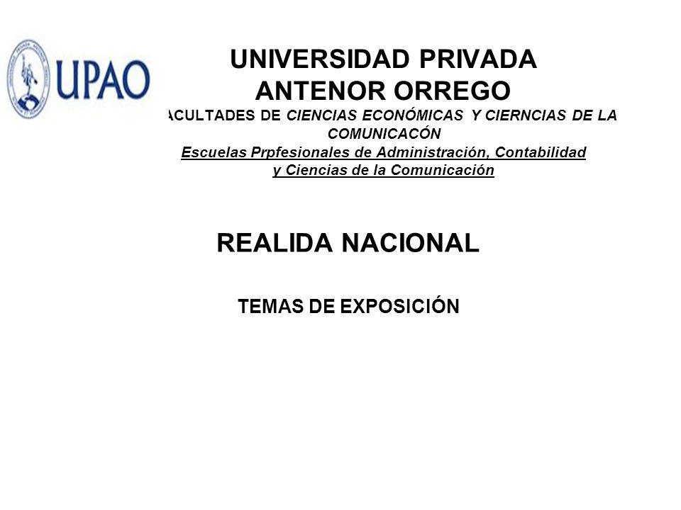 REALIDA NACIONAL TEMAS DE EXPOSICIÓN