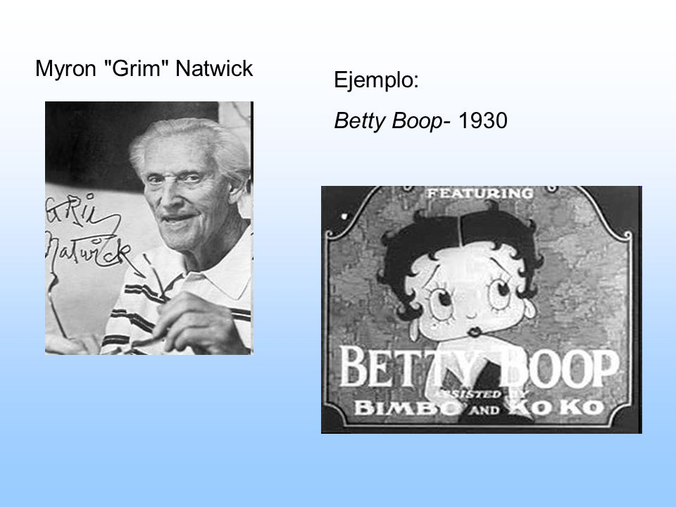 Myron Grim Natwick Ejemplo: Betty Boop- 1930