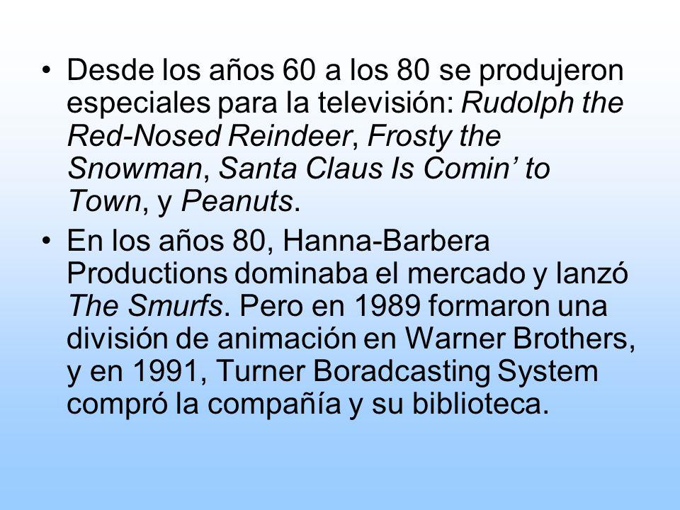 Desde los años 60 a los 80 se produjeron especiales para la televisión: Rudolph the Red-Nosed Reindeer, Frosty the Snowman, Santa Claus Is Comin' to Town, y Peanuts.