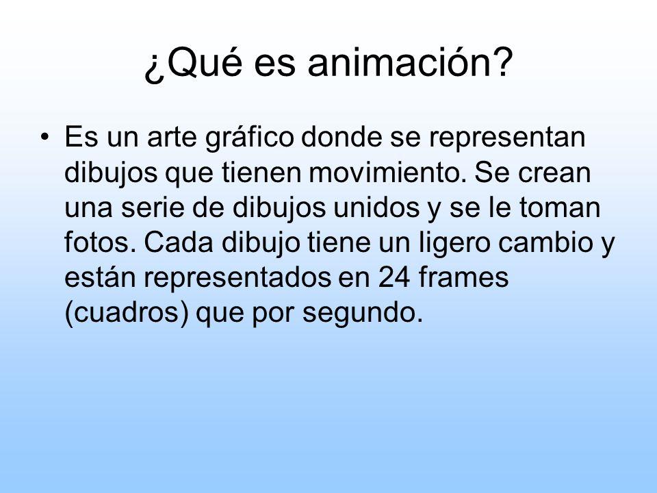 ¿Qué es animación