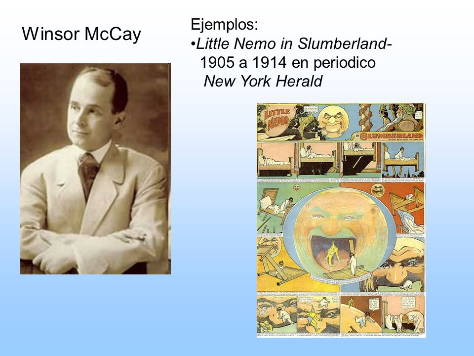 Winsor McCay Ejemplos: Little Nemo in Slumberland-