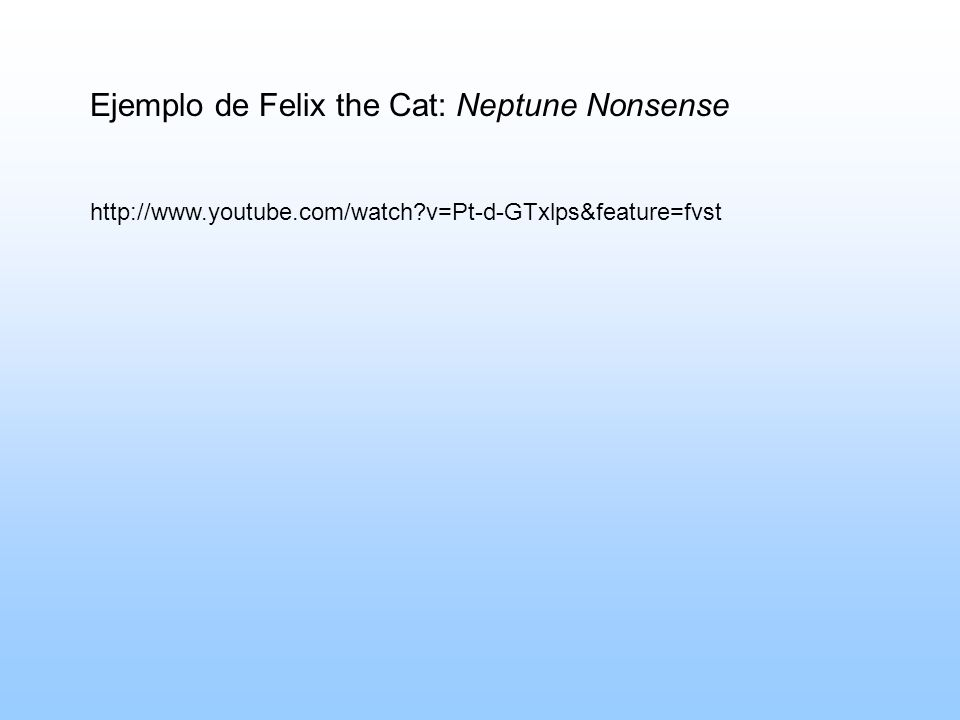 Ejemplo de Felix the Cat: Neptune Nonsense