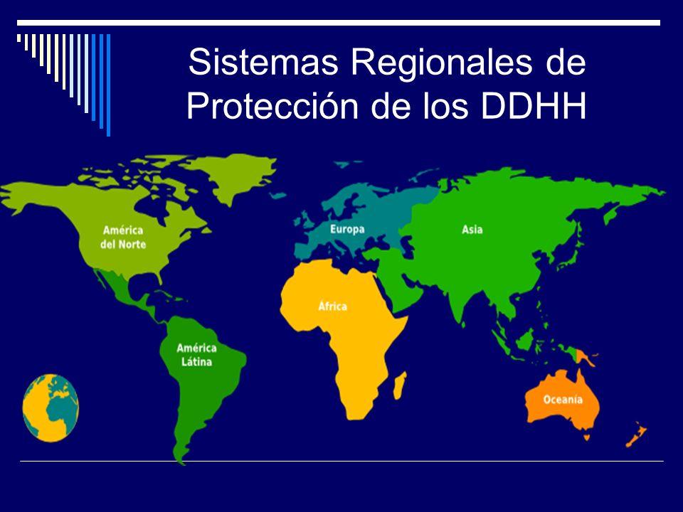 Sistemas Regionales de Protección de los DDHH