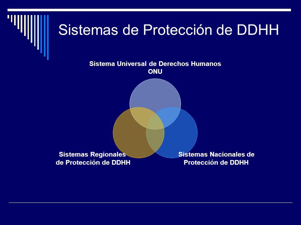 Sistemas de Protección de DDHH