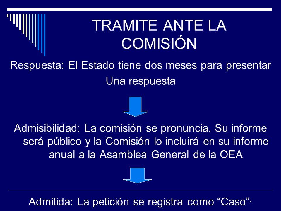 TRAMITE ANTE LA COMISIÓN