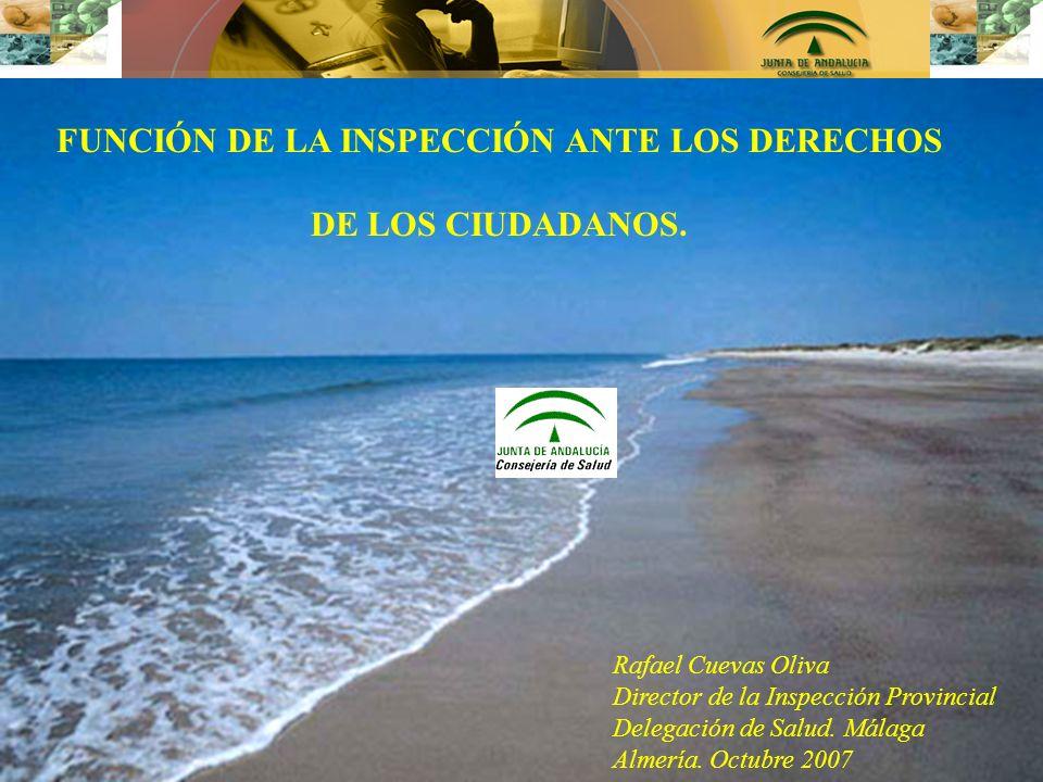 FUNCIÓN DE LA INSPECCIÓN ANTE LOS DERECHOS