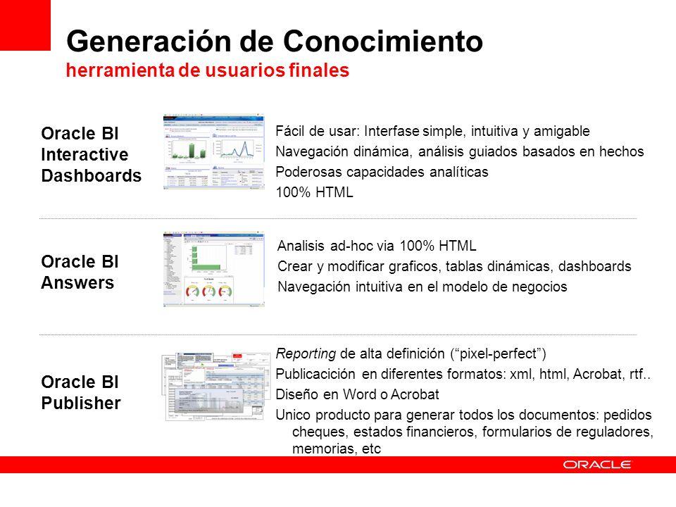 Generación de Conocimiento herramienta de usuarios finales