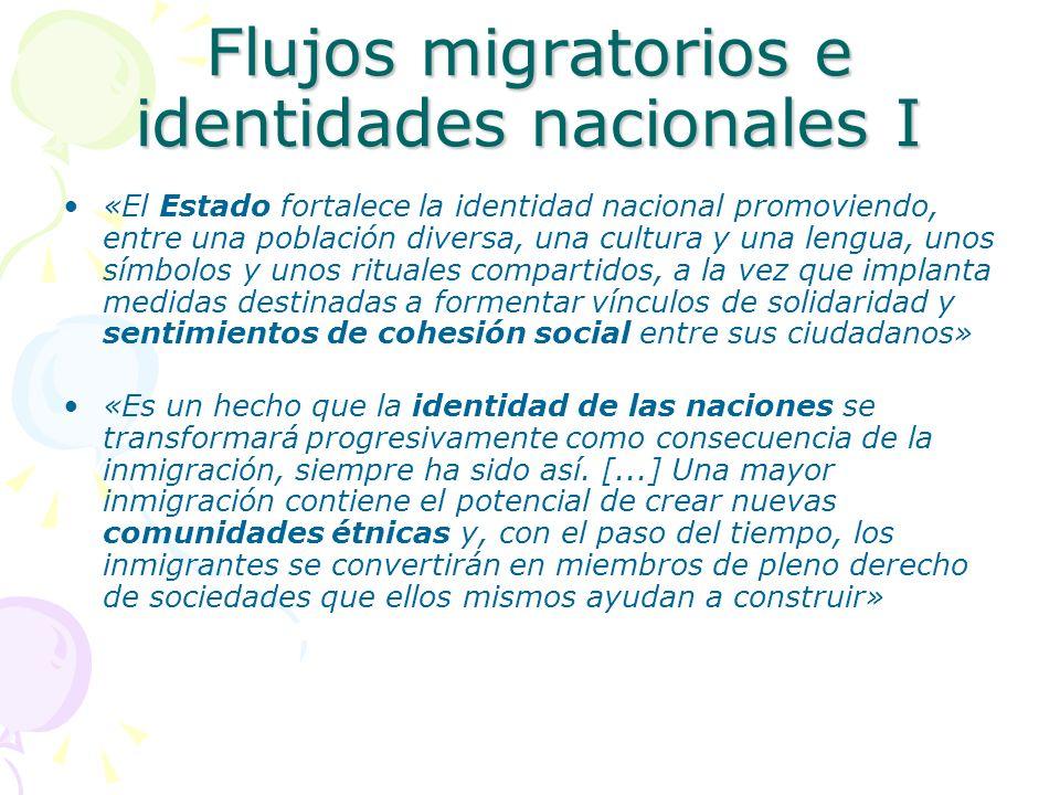 Flujos migratorios e identidades nacionales I