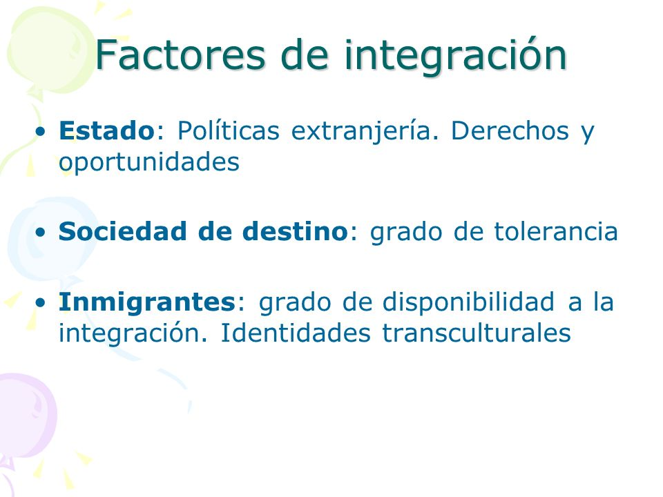 Factores de integración