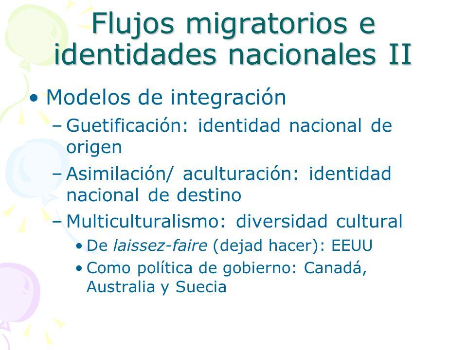 Flujos migratorios e identidades nacionales II