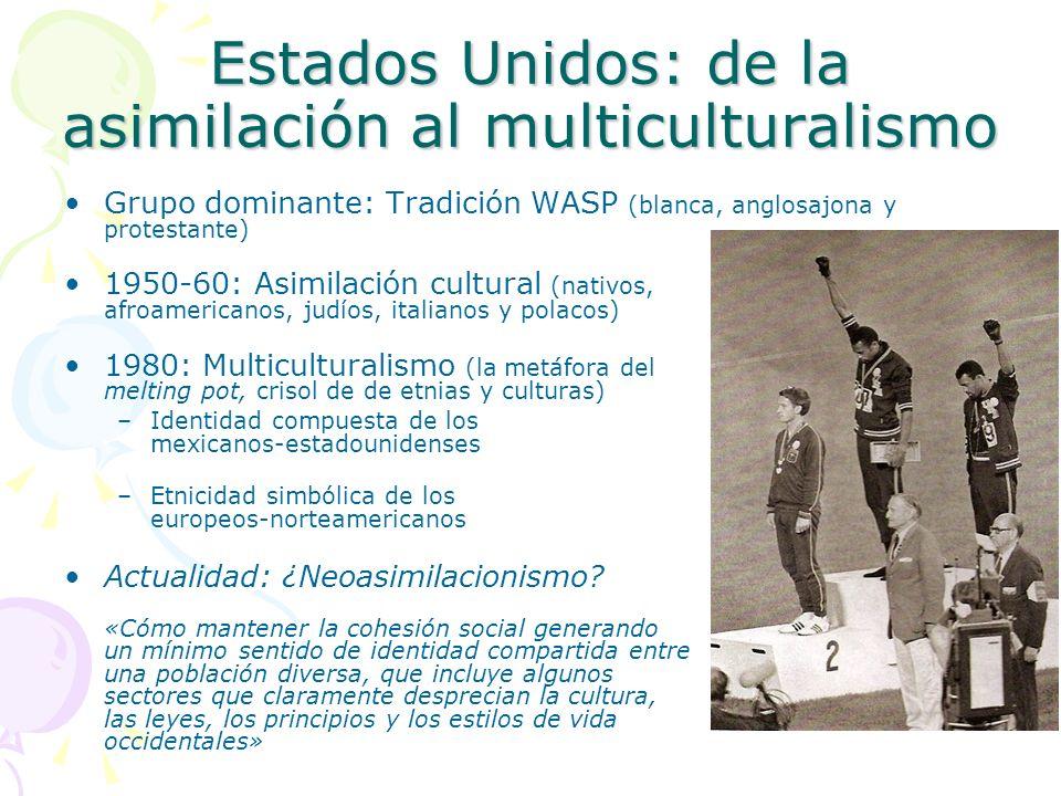Estados Unidos: de la asimilación al multiculturalismo