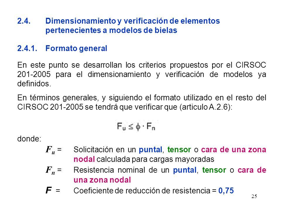 2. 4. Dimensionamiento y verificación de elementos