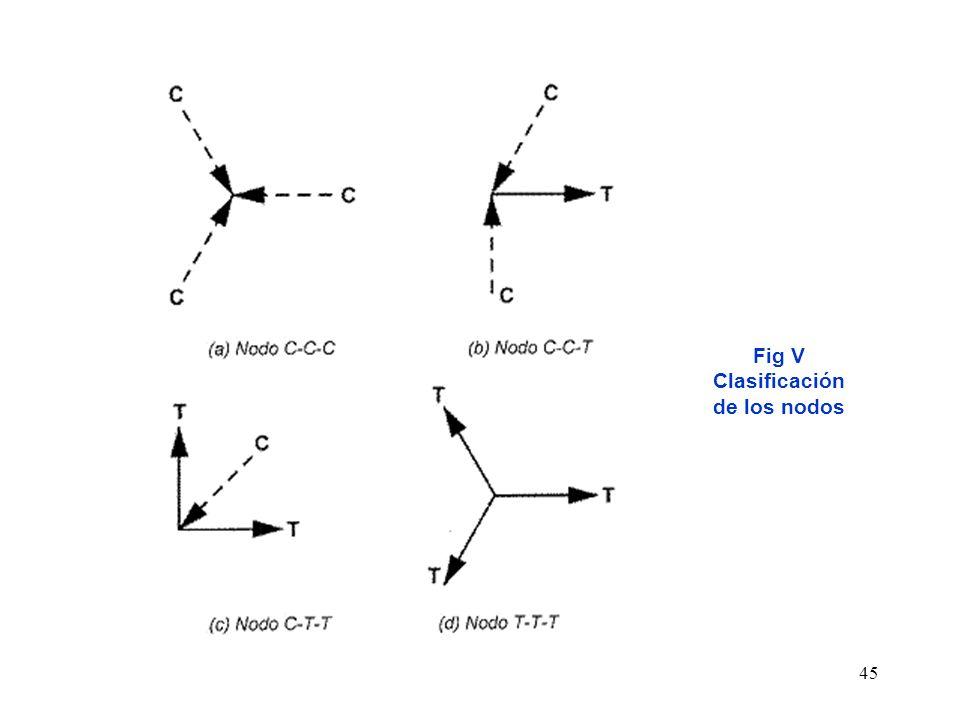 Fig V Clasificación de los nodos