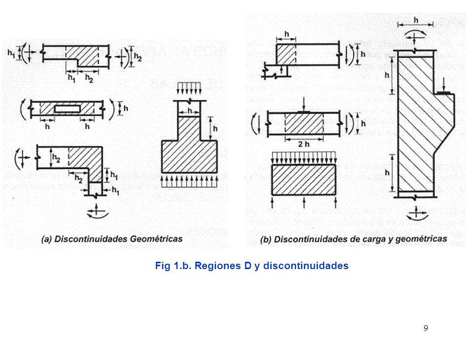 Fig 1.b. Regiones D y discontinuidades