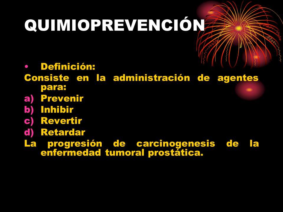QUIMIOPREVENCIÓN Definición: