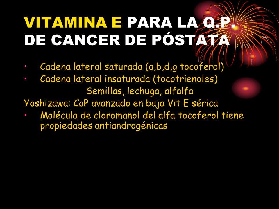 VITAMINA E PARA LA Q.P. DE CANCER DE PÓSTATA