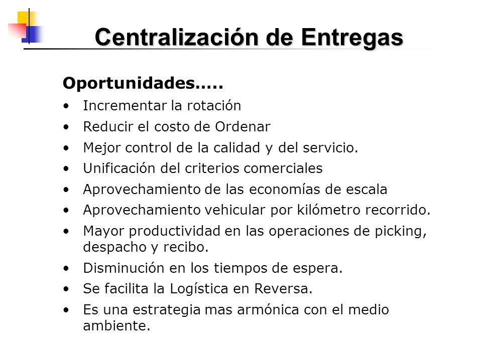 Centralización de Entregas