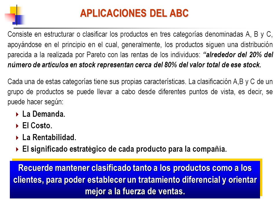 APLICACIONES DEL ABC