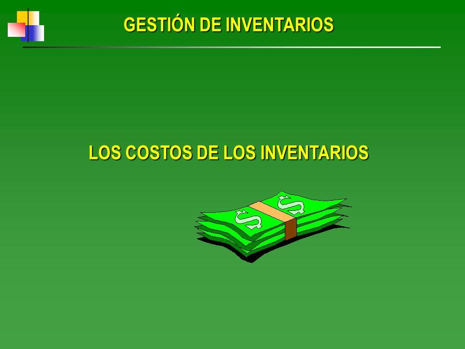 GESTIÓN DE INVENTARIOS LOS COSTOS DE LOS INVENTARIOS