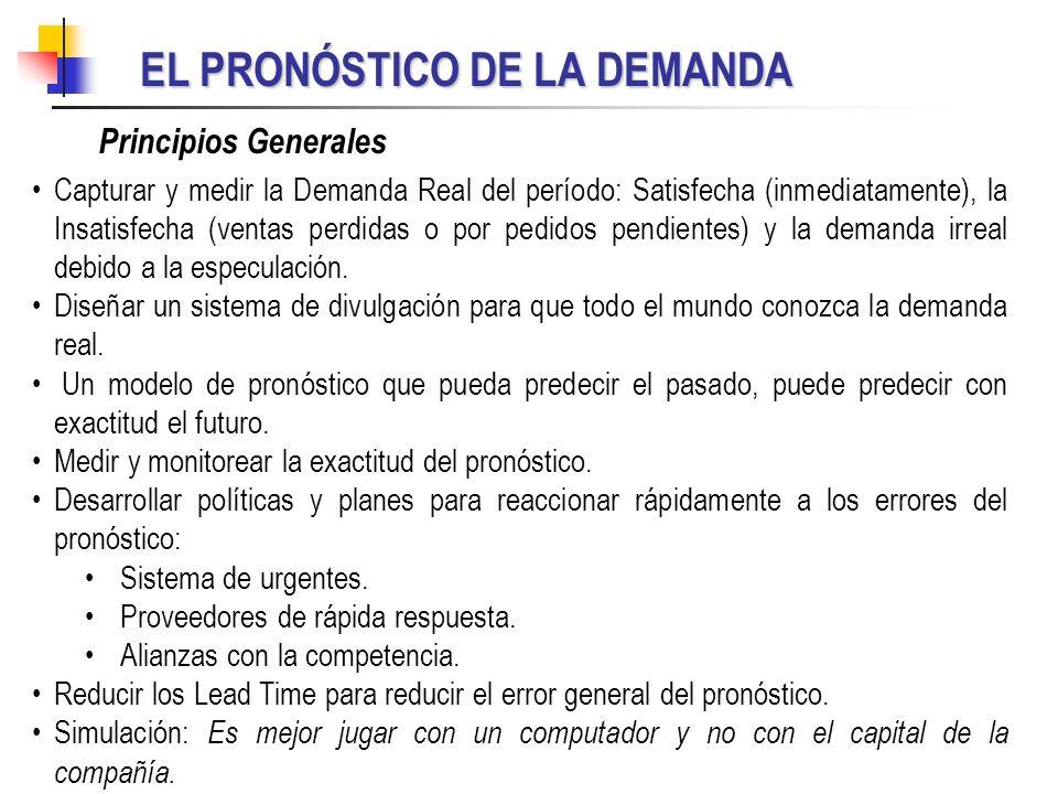 EL PRONÓSTICO DE LA DEMANDA