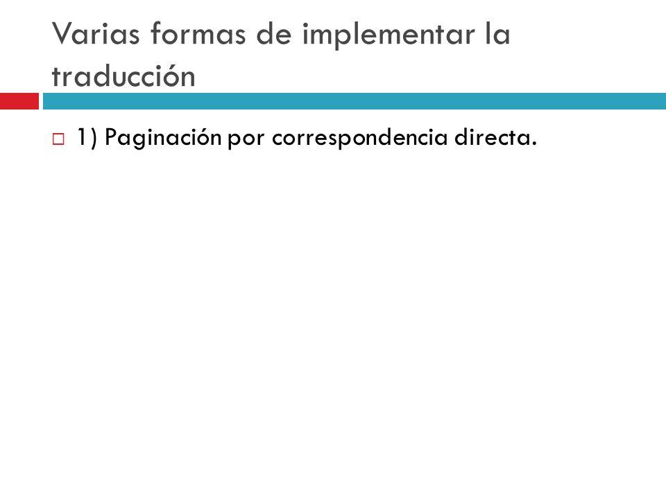Varias formas de implementar la traducción