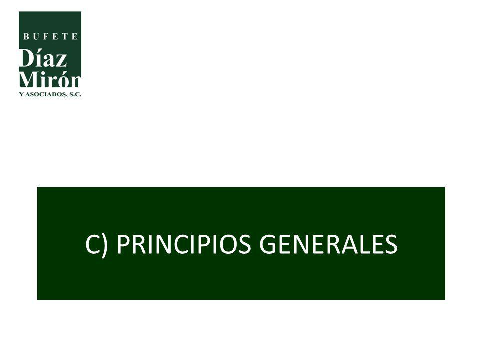 C) PRINCIPIOS GENERALES