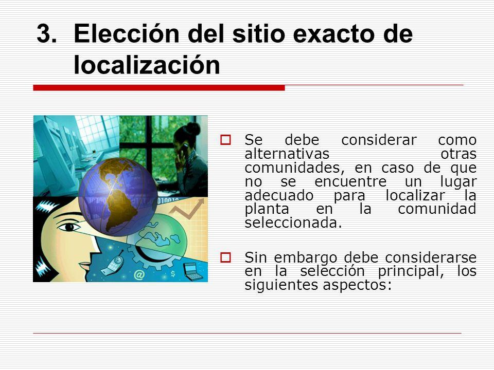 Elección del sitio exacto de localización