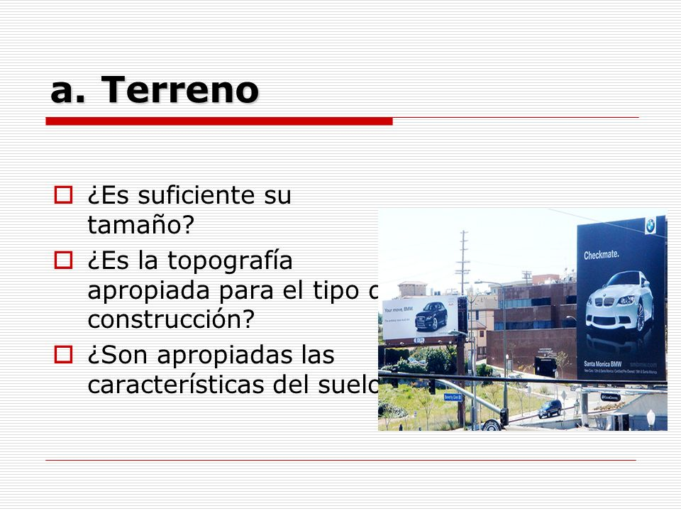 Terreno ¿Es suficiente su tamaño