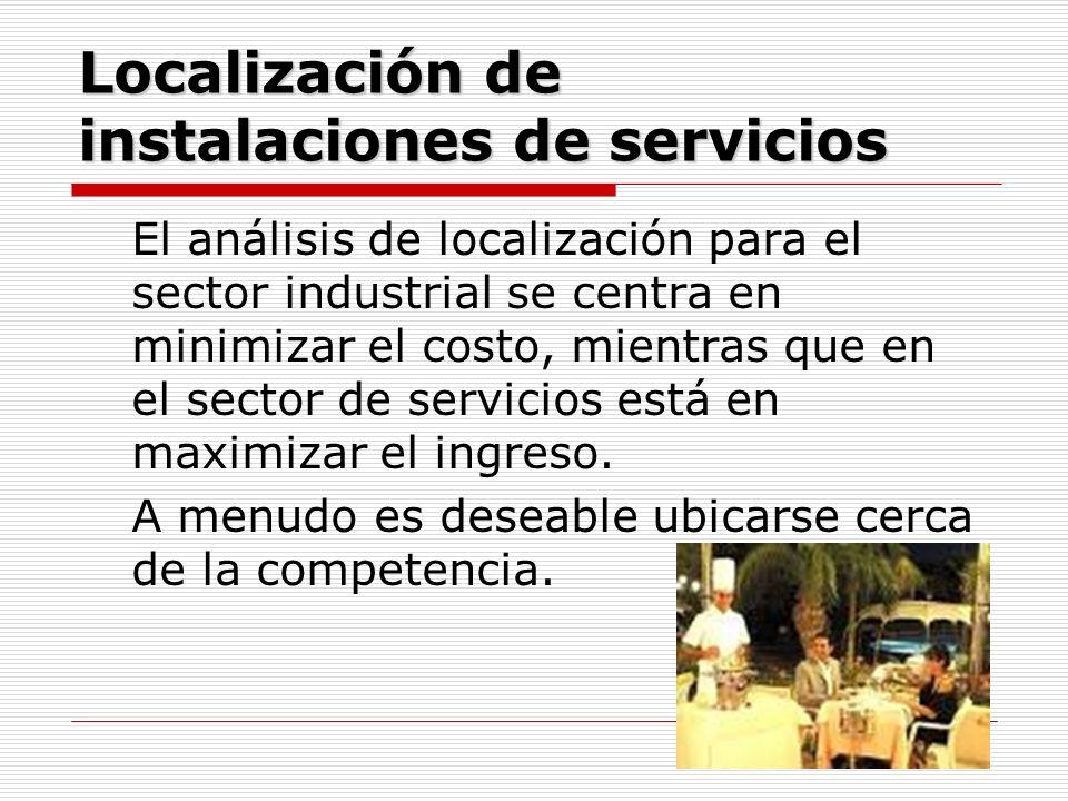 Localización de instalaciones de servicios