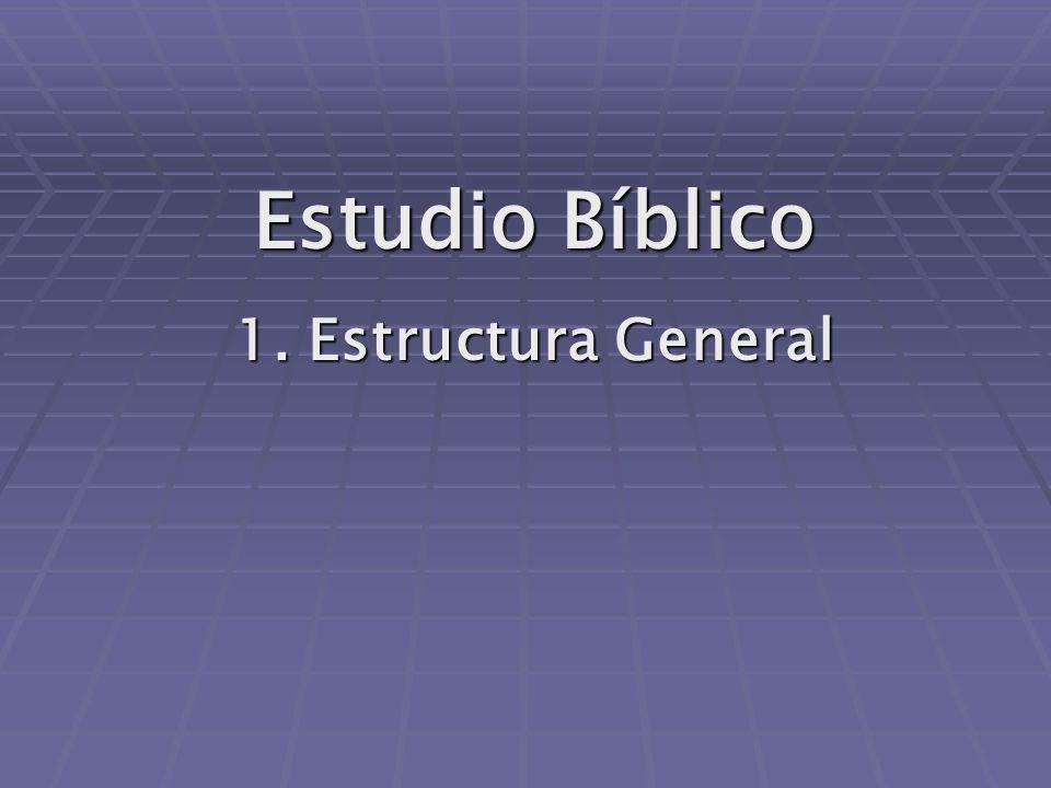 Estudio Bíblico 1. Estructura General
