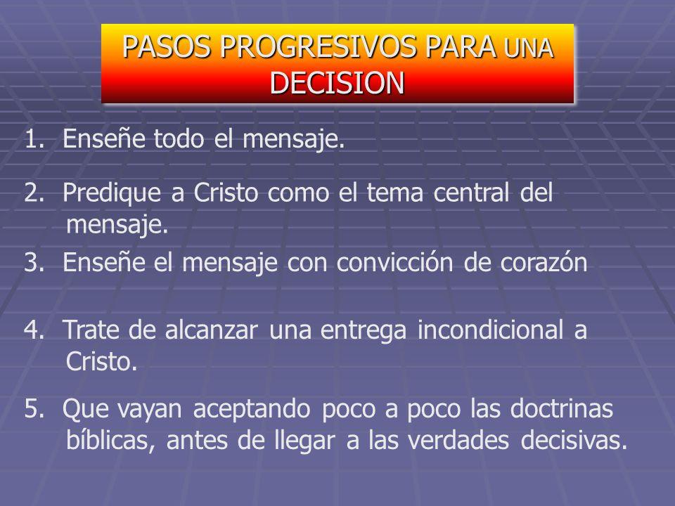 PASOS PROGRESIVOS PARA UNA DECISION