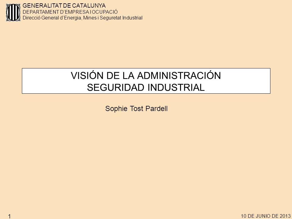VISIÓN DE LA ADMINISTRACIÓN SEGURIDAD INDUSTRIAL
