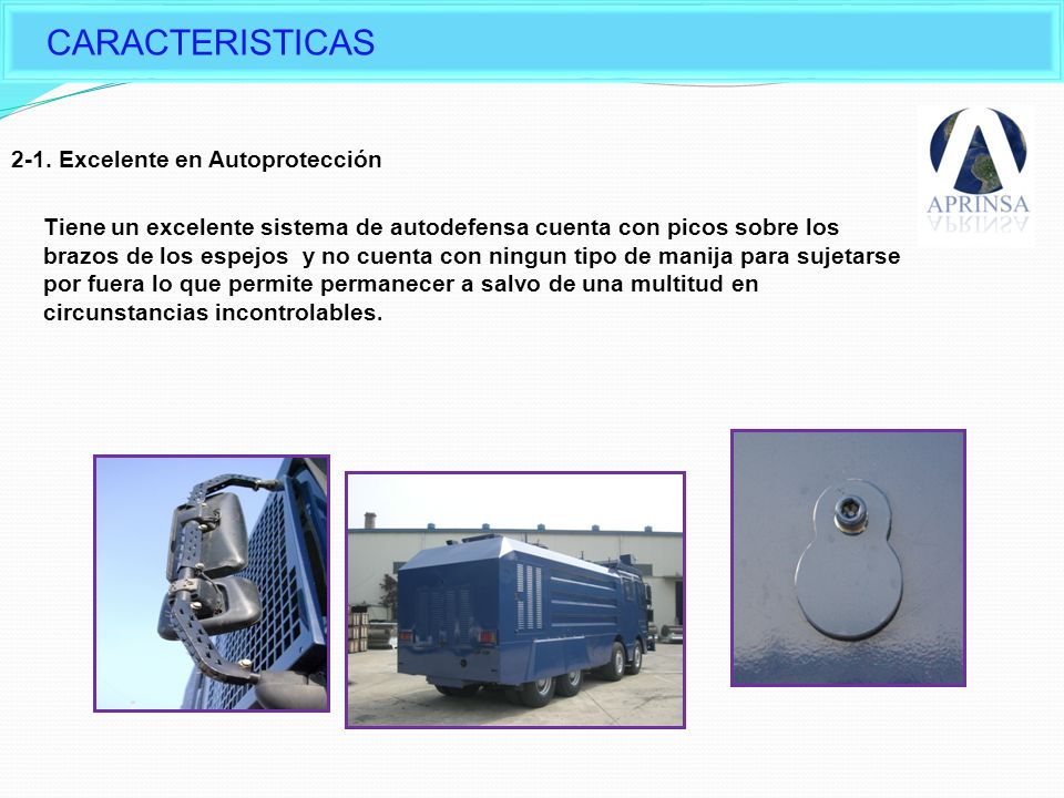 CARACTERISTICAS Characteristic of Daeji Water Cannon